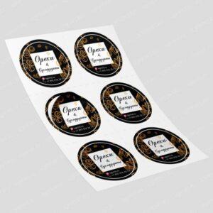 Печать наклеек, печать стикеров, печать самоклеющихся наклеек, печать наклеек москва