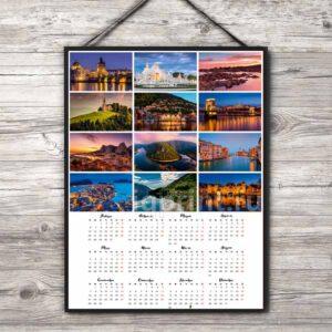 Печать календарей, календарь плакат