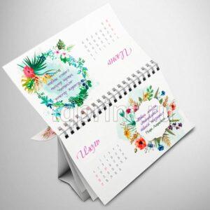 Печать календарей, календарь домик, перекидной настольный календарь